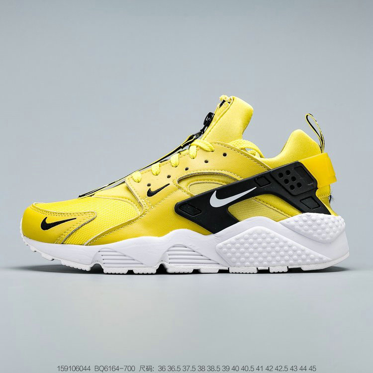 Where To Buy 2019 Womens Cheap Nike Air Huarache Run QS Bright Citron White Black Clair Noir Blanc BQ6164-700