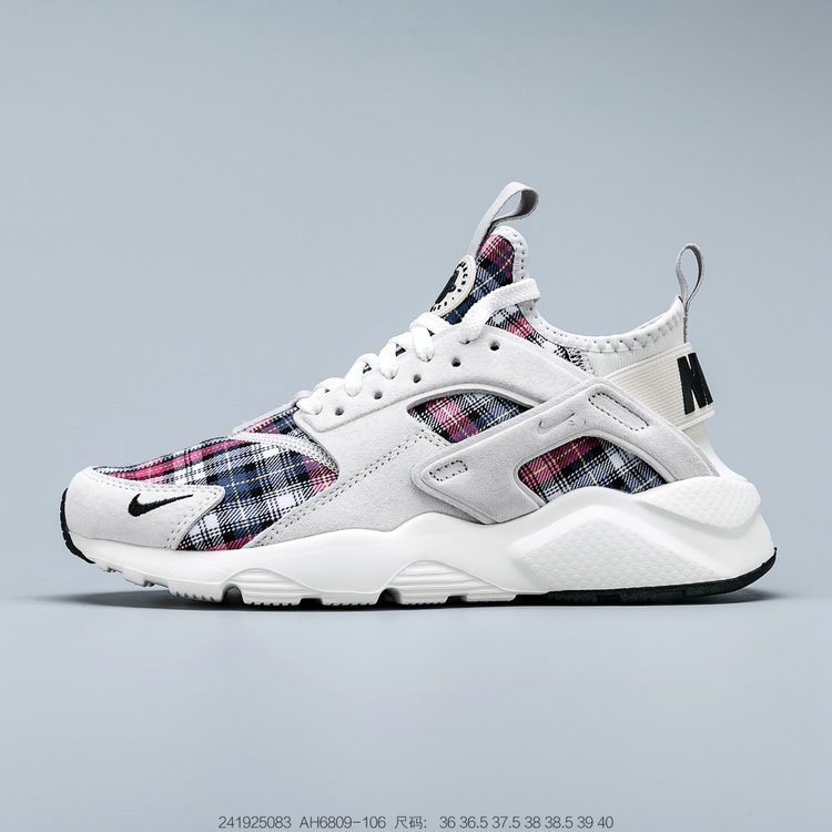 Where To Buy 2019 Womens Cheap Nike Air Huarache Ultra Suede ID White Grey Black Pink Blanc Gris Noir Rose AH6809-106
