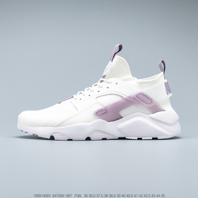 Where To Buy 2019 Womens Cheap Nike Air Huarache Ultra Suede ID White Light Purple Blanc Violet Clair 847569-997