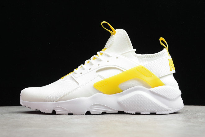 Where To Buy 2019 Womens Cheap Nike Air Huarache Ultra Suede ID White Light Yellow 847569-994