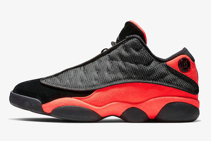Where To Buy 2019 Womens Cheap Nike CLOT x Air Jordan 13 Low Black Infrared AT3102-006