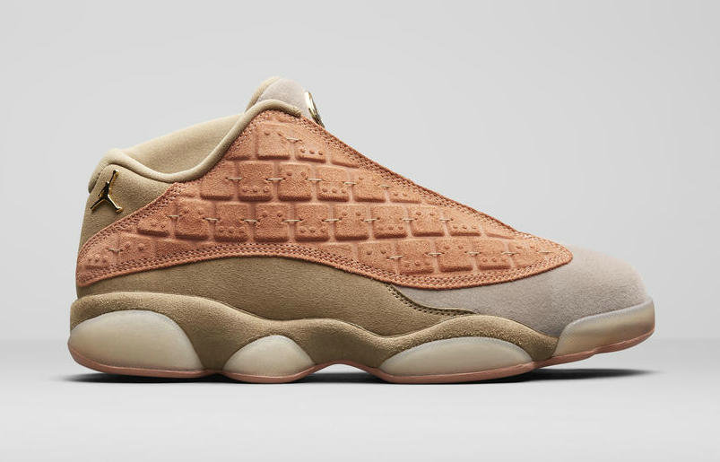 Where To Buy 2019 Womens Cheap Nike CLOT x Jordan 13 Low Sepia Stone AT3102-200