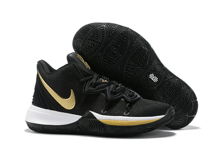 Where To Buy 2019 Womens Cheap Nike Kyrie 5 Black White Golden
