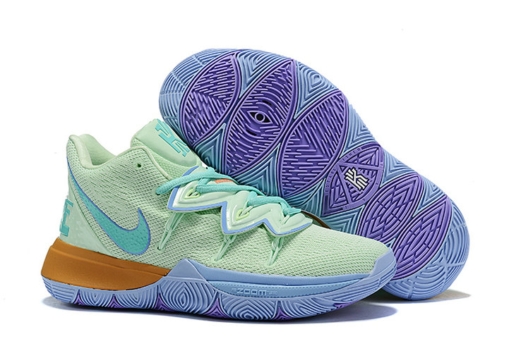 Where To Buy 2019 Womens Cheap Nike Kyrie 5 SBSP Squidward Frosted Spruce Aluminum CJ6951-300