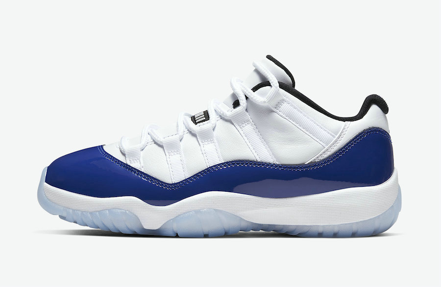 Where To Buy 2020 Cheap Nike Air Jordan 11 Low Concord White Black-Concord Blue AH7860¨C100