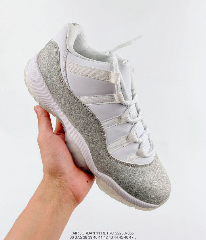 Where To Buy 2020 Cheap Nike Air Jordan 11 Low White Metallic Silver