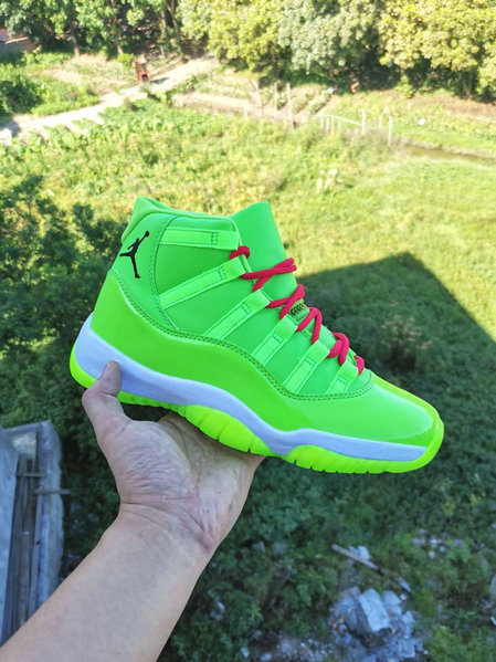 Where To Buy 2020 Cheap Nike Air Jordan 11 Neon Green Fire Red Black PE