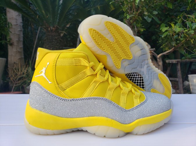 Where To Buy 2020 Cheap Nike Air Jordan 11 Yellow Metallic Silver
