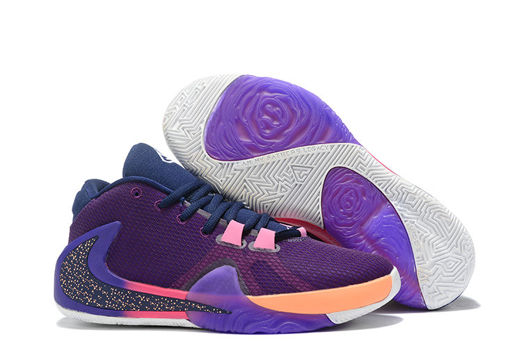 Where To Buy Cheap 2019 Nike Zoom Greek Freak 1 Purple Pink-Orange