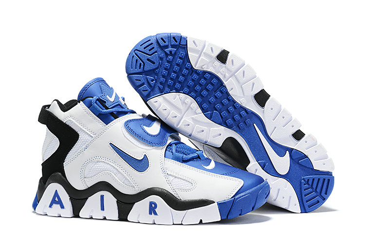 Where To Buy Cheap Nike Air Barrage Mid Blue Black White