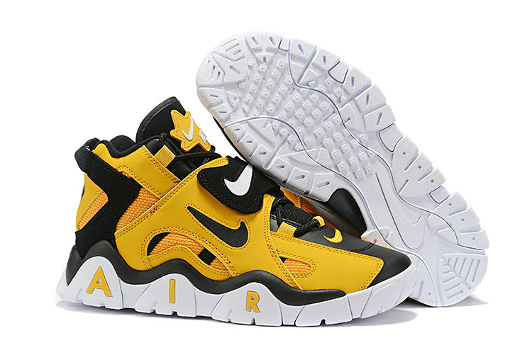 Where To Buy Cheap Nike Air Barrage Mid QS Black Yellow White