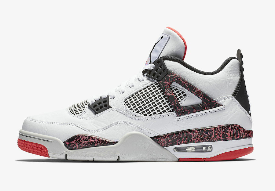 Where To Buy Cheap Nike Air Jordan 4 Flight Nostalgia White Black-Bright Crimson-Pale Citron 308497-116