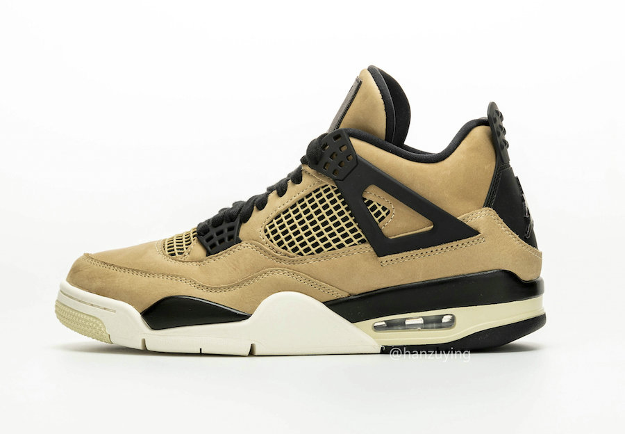 Where To Buy Cheap Nike Air Jordan 4 Mushroom Black-Fossil-Pale Ivory AQ9129-200
