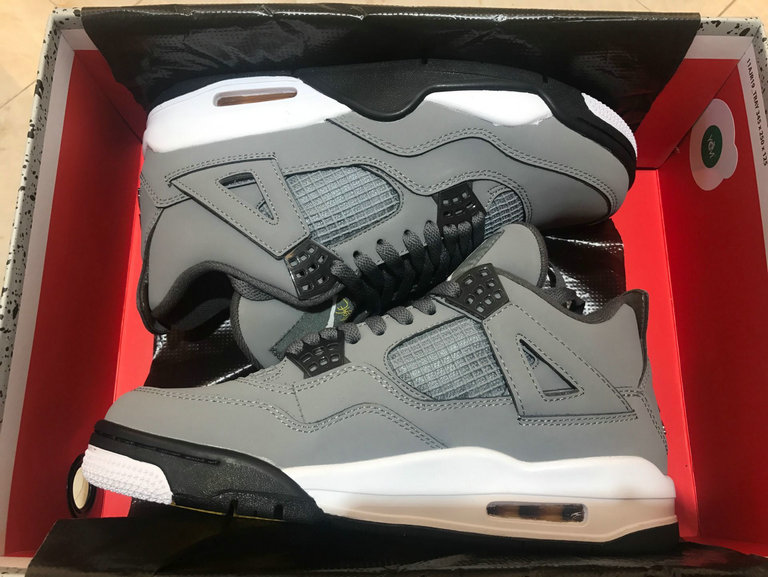 Where To Buy Cheap Nike Air Jordan 4 Retro Cool Grey Chrome Dark Charcoal Gris Frais Chrome 308497-007