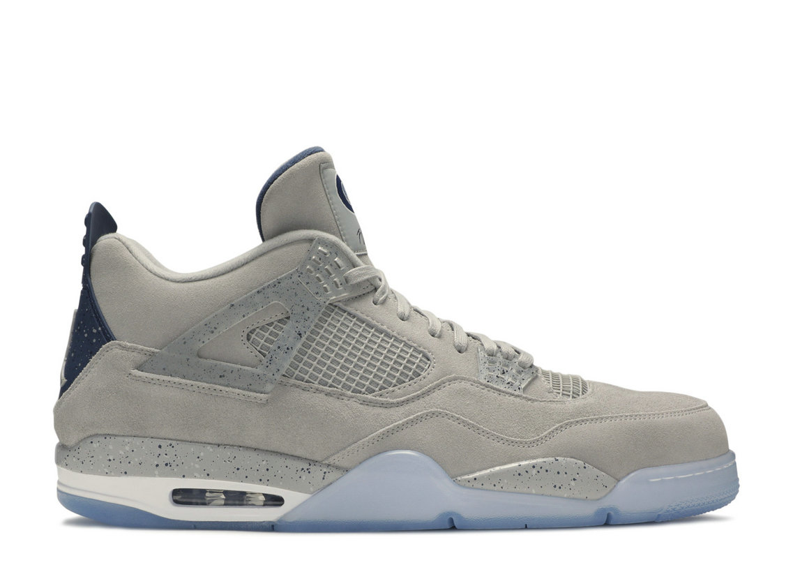 Where To Buy Cheap Nike Air Jordan 4 Retro Georgetown Pe Pewter Grey College Navy White AJ4-1043505