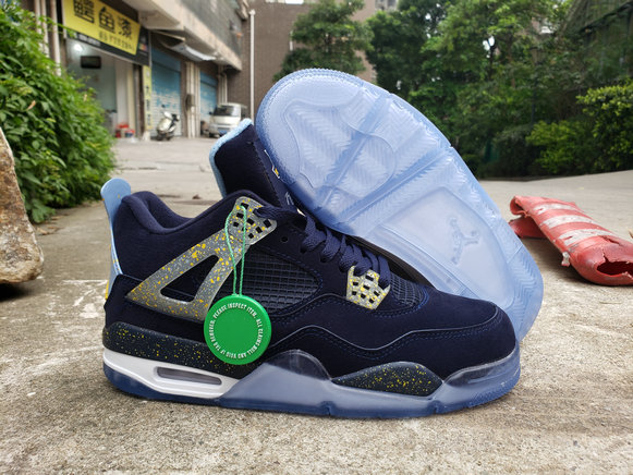 Where To Buy Cheap Nike Air Jordan 4 Retro Navy Blue Metallic Gold White