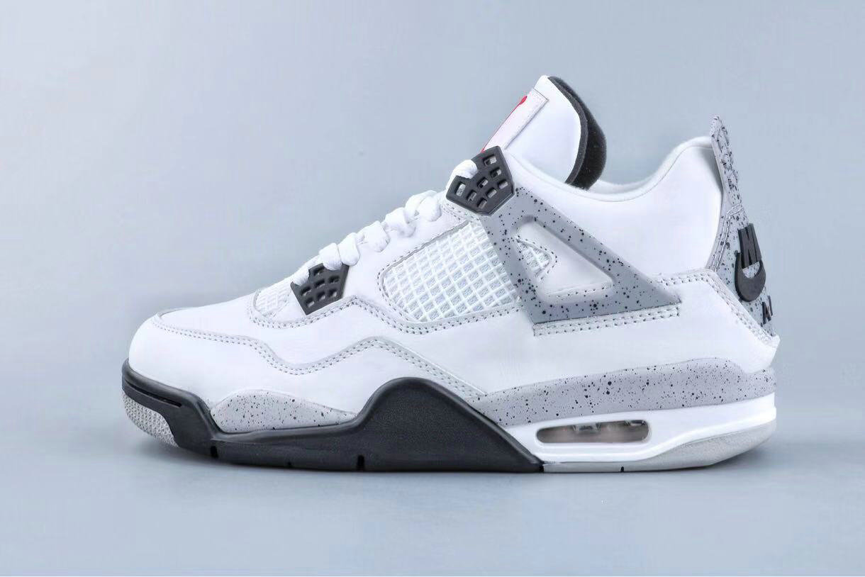 Where To Buy Cheap Nike Air Jordan 4 Retro Og Bg white Cement 836016 192