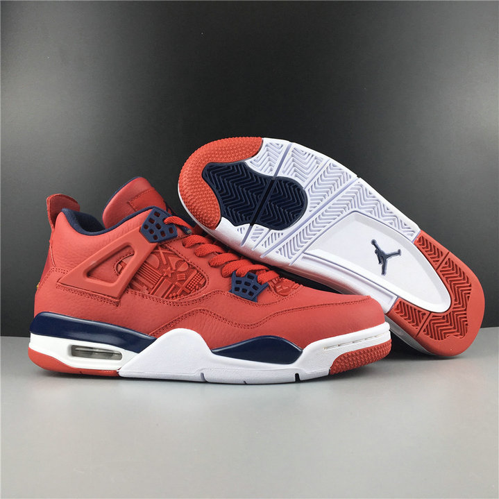 Where To Buy Cheap Nike Air Jordan 4 SE FIBA Gym Red White-Metallic Gold-Obsidian CI1184-617