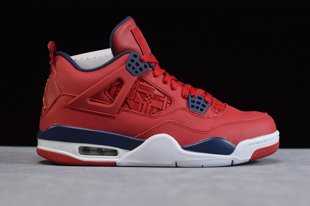 Where To Buy Cheap Nike Air Jordan 4 University Red Royal Blue White Gold
