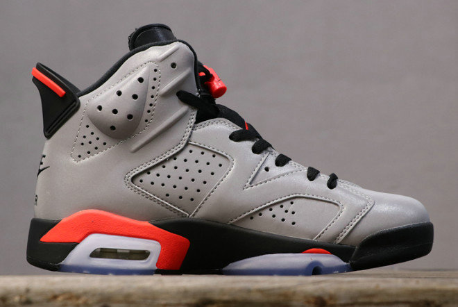 Where To Buy Cheap Nike Air Jordan 6 JSP 3M Reflective Silver Black-Infrared CI4072-001