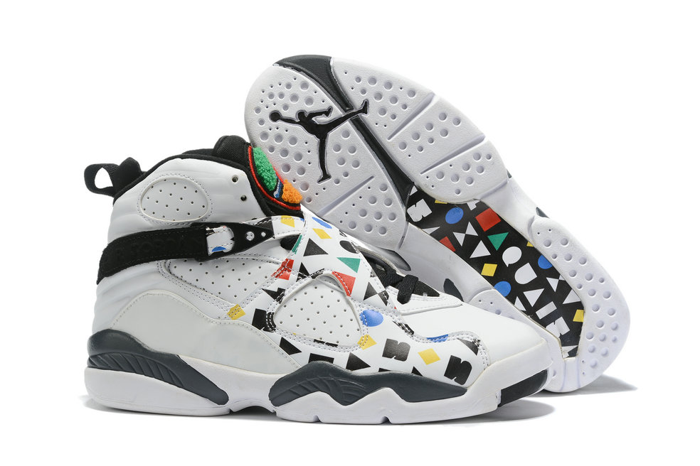 Where To Buy Cheap Nike Air Jordan 8 Quai 54 Black White-Multi-Color CJ9218-001