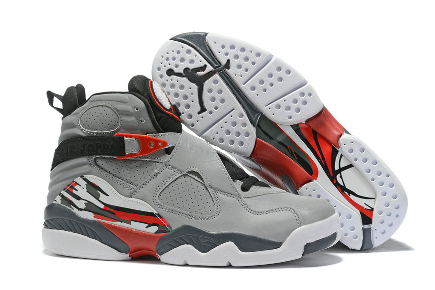 Where To Buy Cheap Nike Air Jordan 8 Retro Grey Black Red White