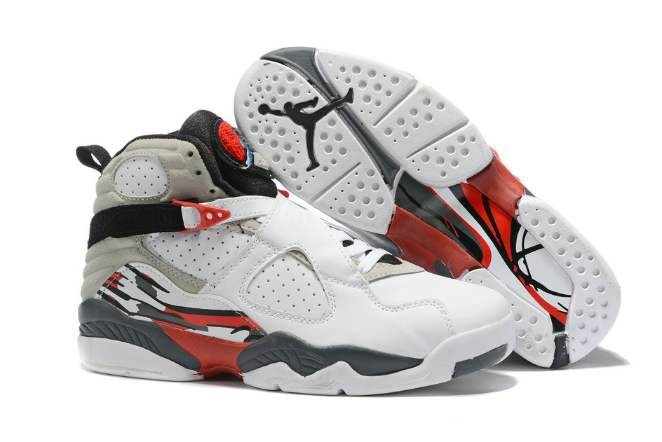 Where To Buy Cheap Nike Air Jordan 8 Retro White Grey Red 130169-100