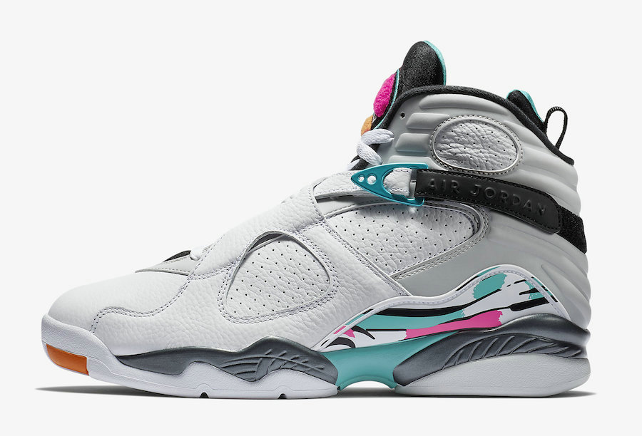 Where To Buy Cheap Nike Air Jordan 8 South Beach White-Turbo Green-Multi-Color 305381-113