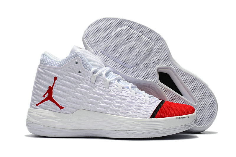 Where To Buy Cheap Nike Air Jordan Melo M13 White Red-Black