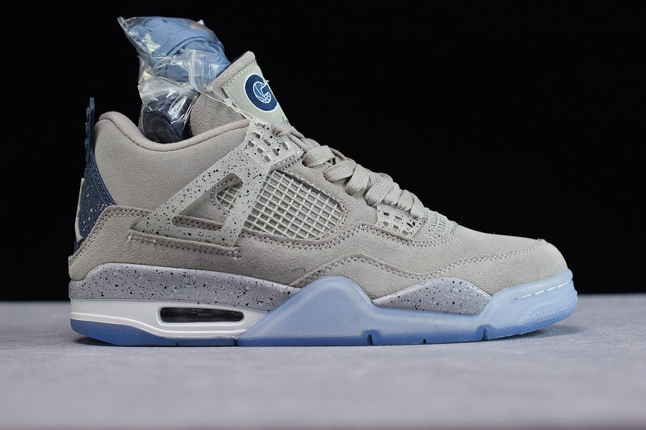 Where To Buy Cheap Nike Air Jordan4 Georgetown Hoyas PE Grayness White AJ4-1043505
