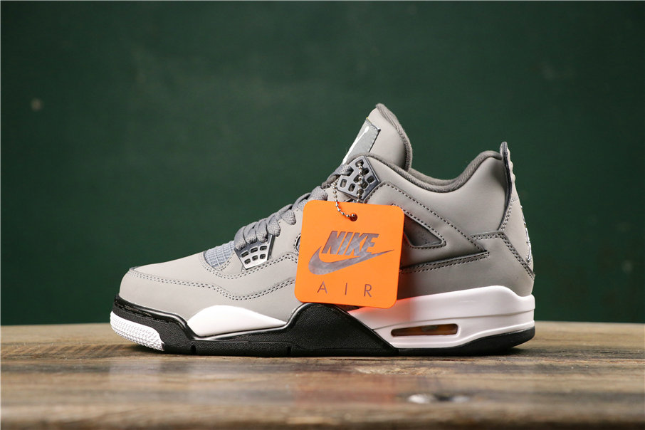Where To Buy Cheap Nike Air Jordans 4 Cool Grey Chrome-Dark Charcoal-Varsity Maize 308497-007