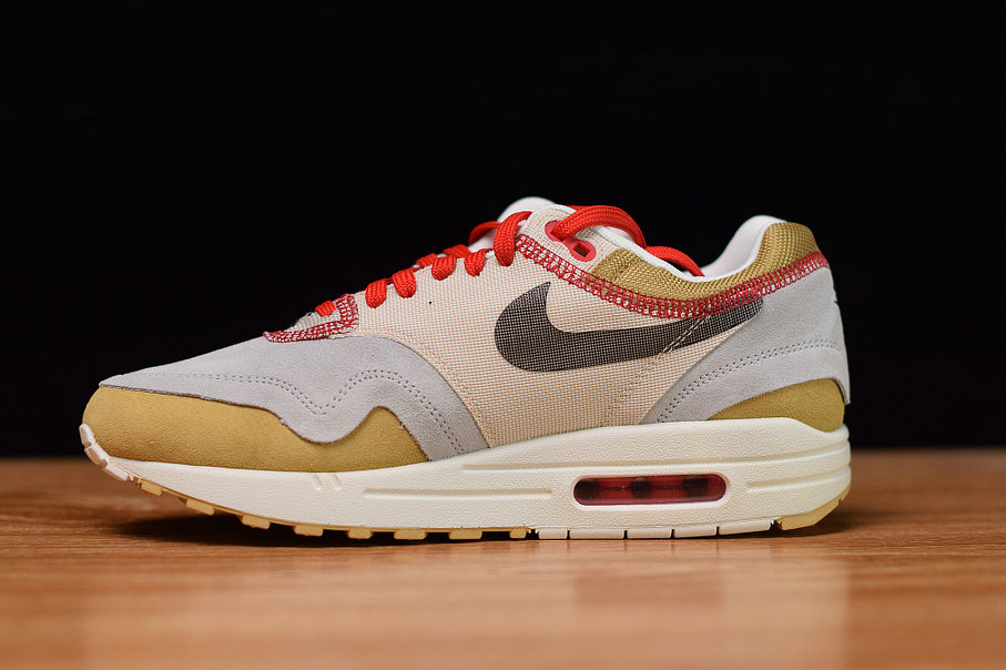 Where To Buy Cheap Nike Air Max 1 Club Gold Black-Pure Platinum-Desert Sand-Sail-University Red 858876-713
