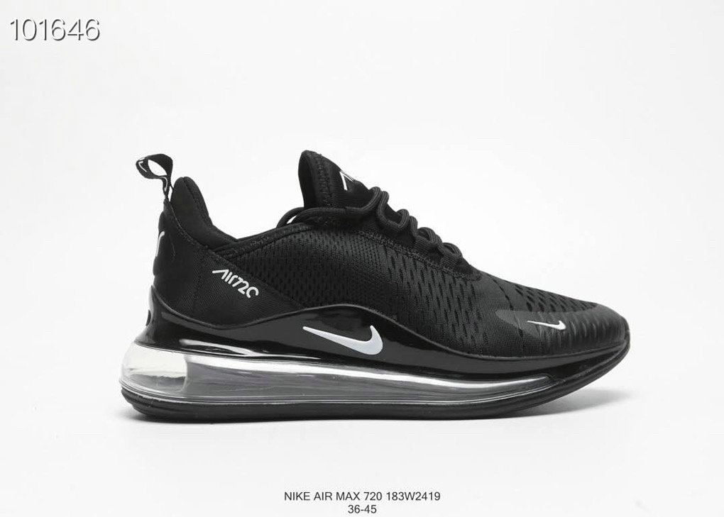 Where To Buy Cheap Nike Air Max 720 V2 Womens Triple Black