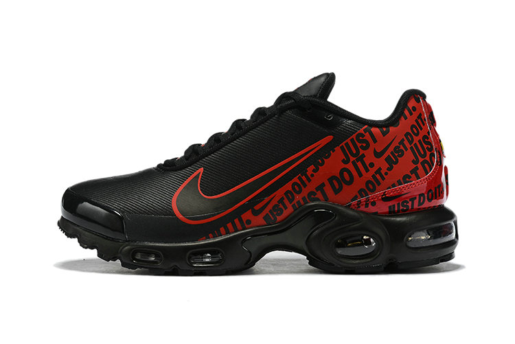 Where To Buy Cheap Nike Air Max Plus Just Do It Black Red