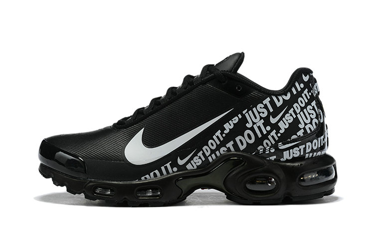 Where To Buy Cheap Nike Air Max Plus Just Do It Black White Grey