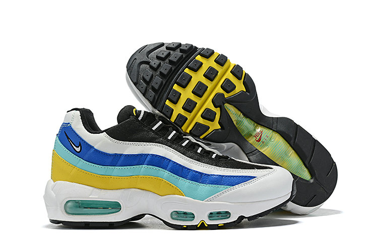 Where To Buy Cheap Nike Air Maxs 95 Blue Jade Yellow White