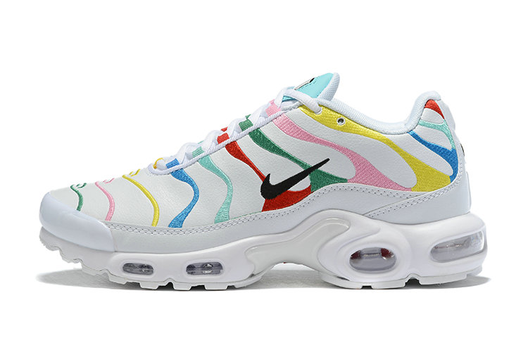 Where To Buy Cheap Nike Air Maxs Plus Multicolor White Unisex Running Shoes AQ5117-101