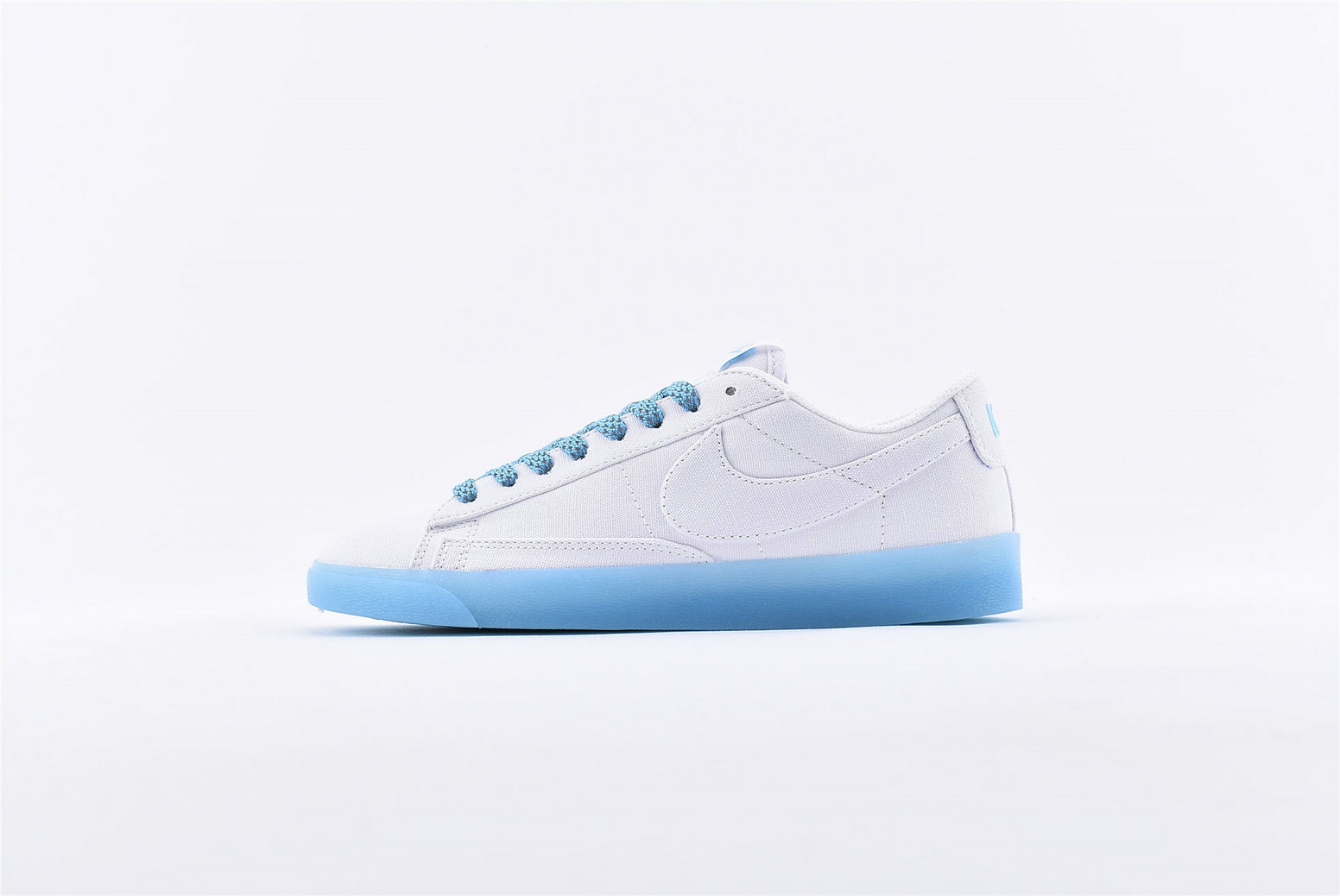 Where To Buy Cheap Nike Blazer Low Sky Blue White For Sale AV9371-118