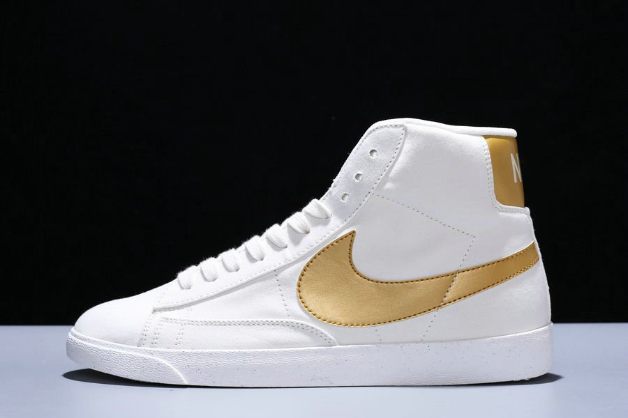 Where To Buy Cheap Nike Blazer Mid PRM VNTG Ivory White Tuhao Gold CD8233-103