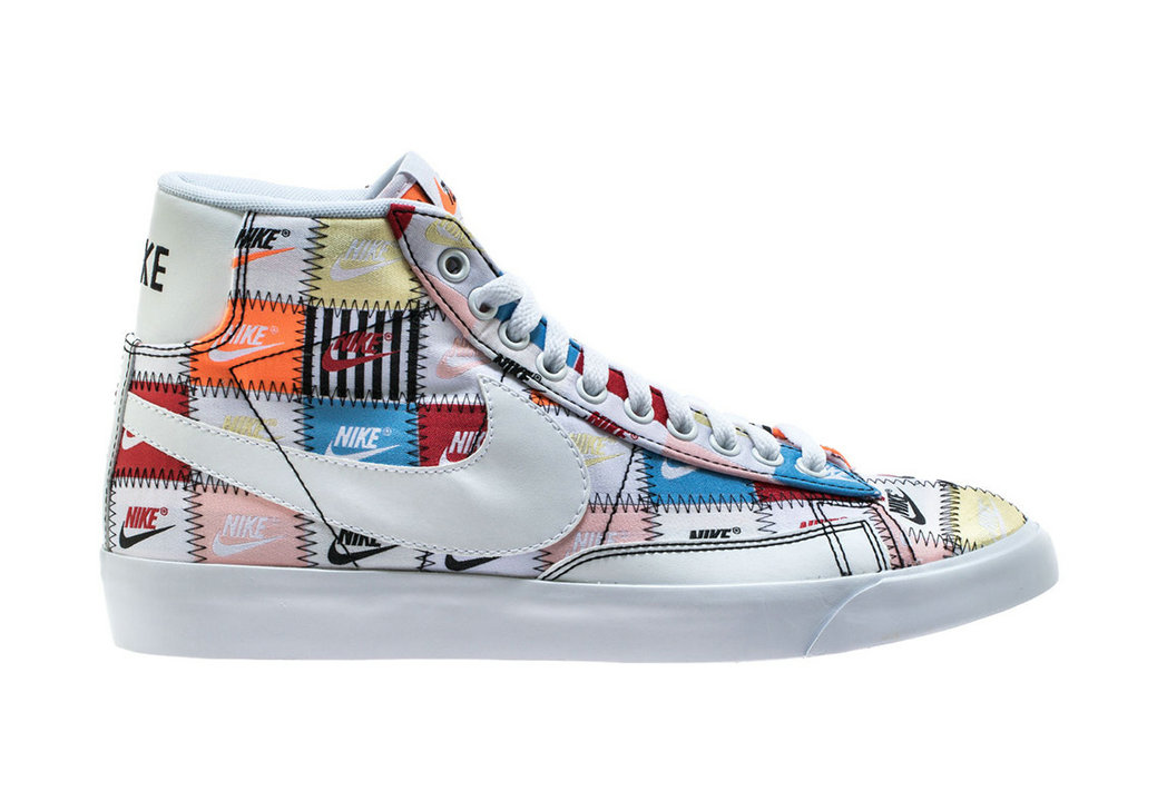 Where To Buy Cheap Nike Blazer Mid White Multi Color Black Blanc Couleur Multiple CI9887-100