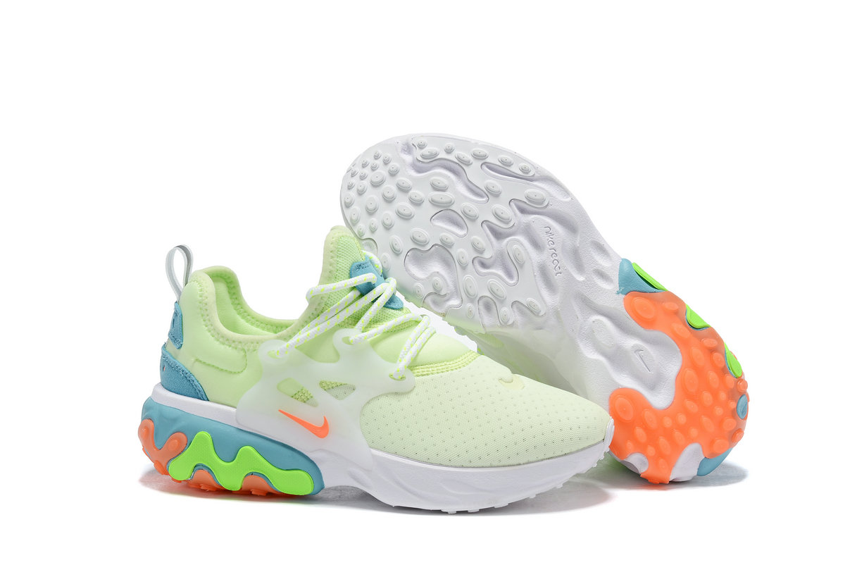Where To Buy Cheap Nike Epic React Flyknit White Light Green Red Blue Orange