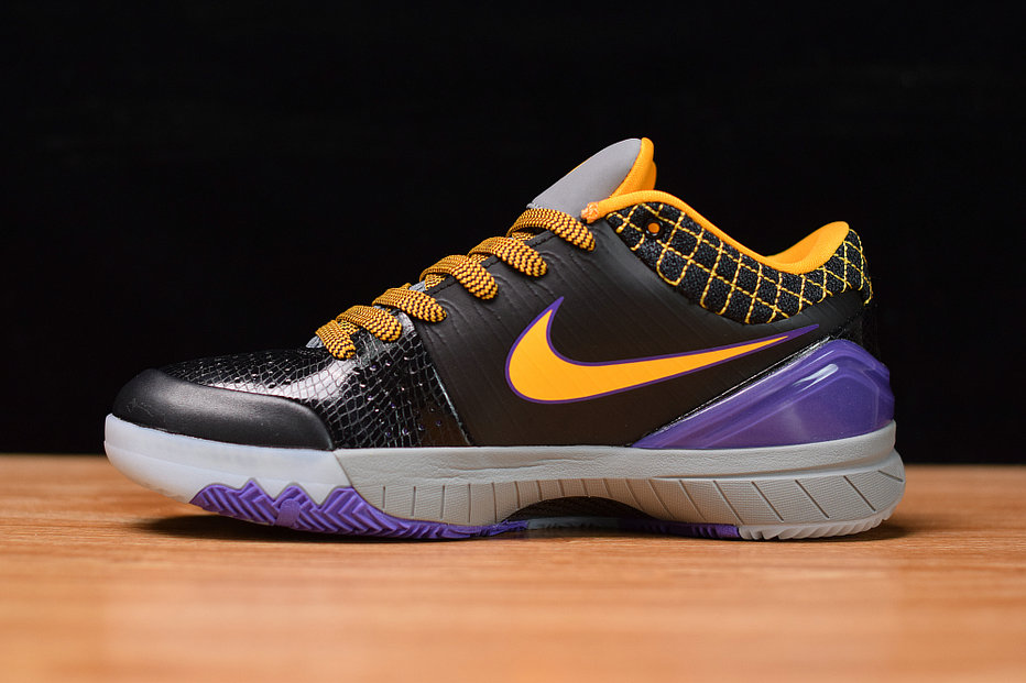 Where To Buy Cheap Nike Kobe 4 Black Orange Red Purple Noir Orange RPRO Viovif AV6339-001