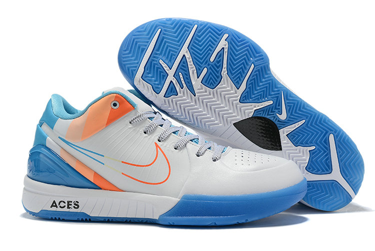 Where To Buy Cheap Nike Kobe 4 Protro ZK4 White Blue Orange AV6339 002