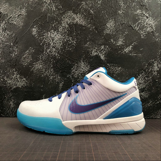 Where To Buy Cheap Nike Kobes 4 Protro White Varsity Purple Blanc Violet Varsity AV6339-100