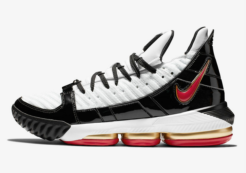 Where To Buy Cheap Nike LeBron 16 Remix White Comet Red Black Blanc Noir Rouge Comete CD2451-101