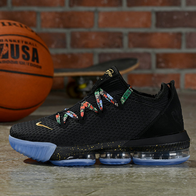 Where To Buy Cheap Nike Lebron 16 Low Black Multi-Color