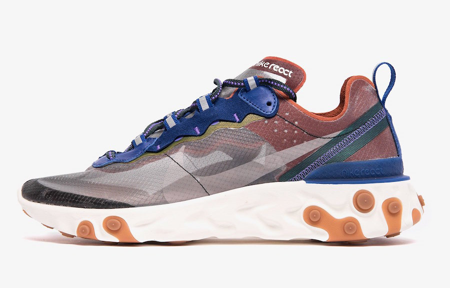 Where To Buy Cheap Nike React Element 87 Dusty Peach Atmosphere Grey AQ1090-200