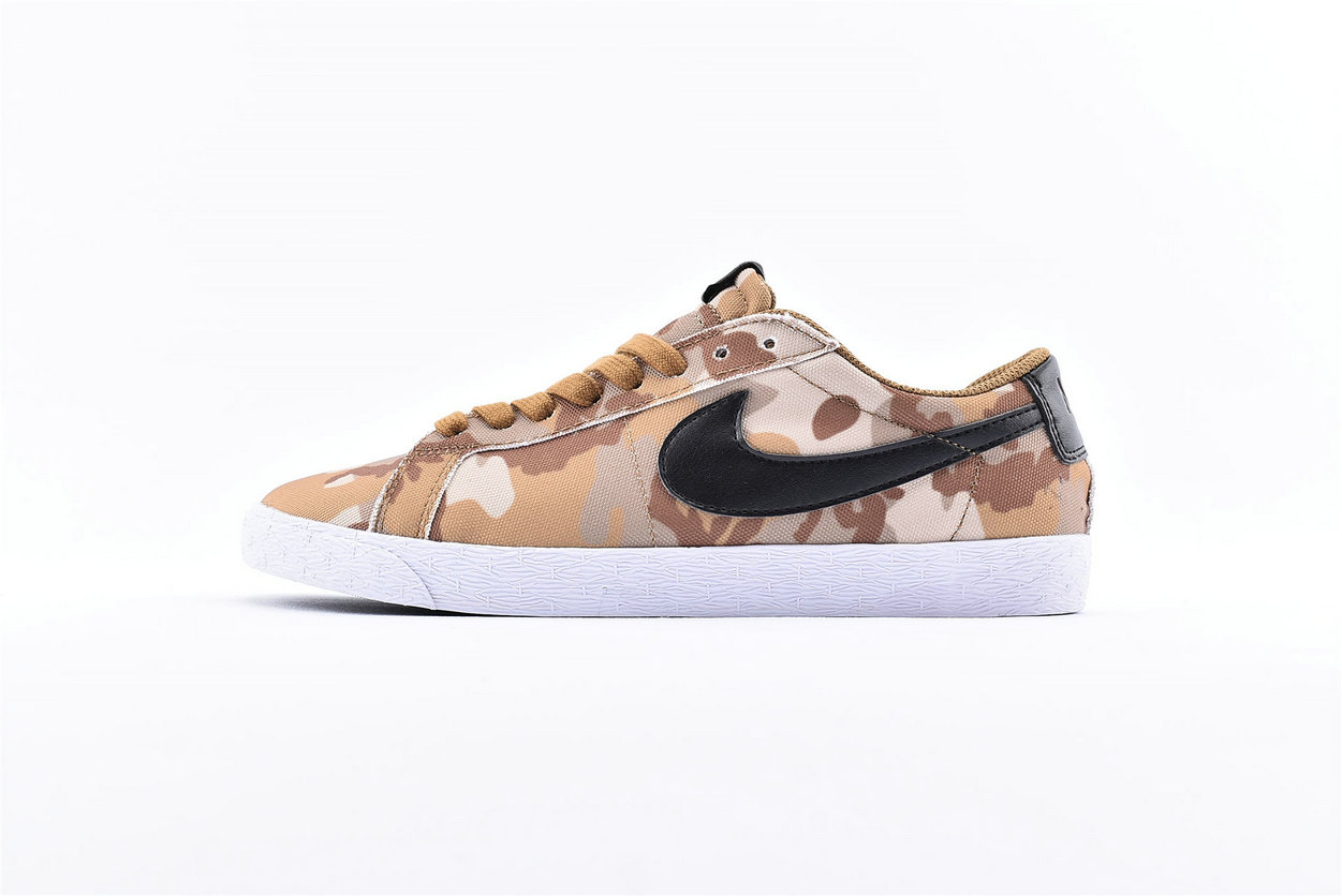 Where To Buy Cheap Nike SB Blazer Zoom Low CNVS Brown Camo 889053-200