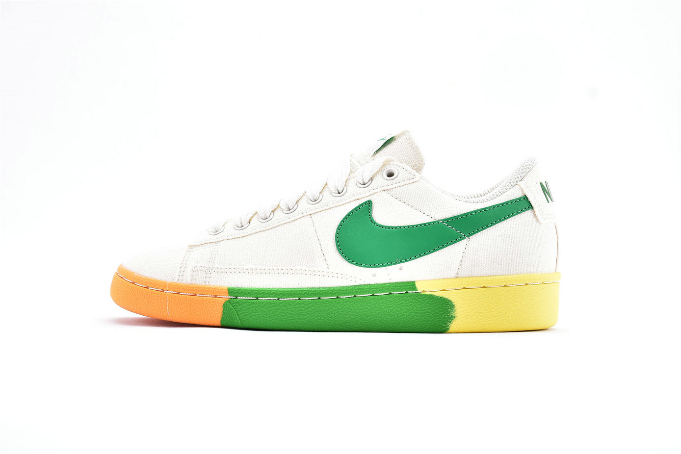 Where To Buy Cheap Nike SB Zoom Blazer Low White Green Orange AA1057-103