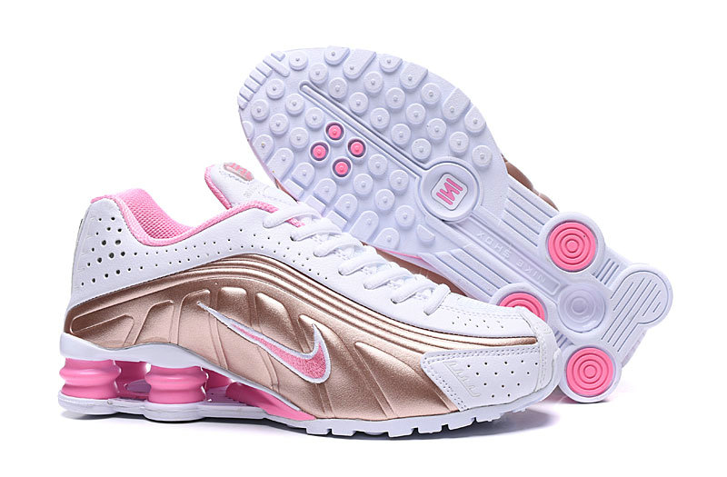 Where To Buy Cheap Nike Shox R4 Womens Rose Gold Pink White